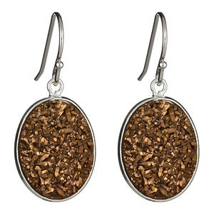 Image of Gold Druzy Earrings