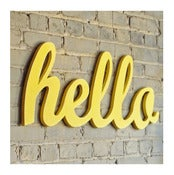 Image of Hello XL sign