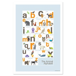 Image of Animal Alphabet Poster