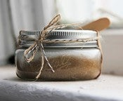 Image of Coconut and Brown Sugar Scrub 8oz in Ball Jar