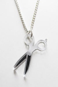 Image of Silver Shears Necklace
