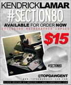 Image of Autographed Kendrick Lamar #section80 CD