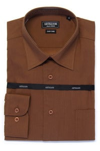 Image of ARTIGIANO CR706 BROWN SHIRT