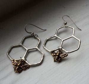 Image of Handmade Honeycomb Dangles