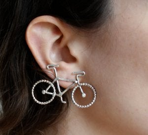 Image of Large Sterling Silver Bike Studs