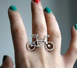 Image of Tiny Sterling Silver Bike Ring