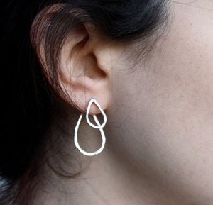 Image of Double Sided Drop Earrings