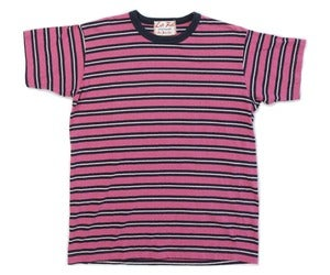 Image of Melange Yarn Dye Heather Fuschia/indigo Surf Punk Tee