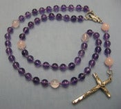 Image of Holy Rosary made from Crystals