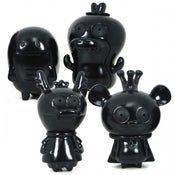 Image of Bossy Bear &amp; Friends 4 pc Set - LTD Black Edition 
