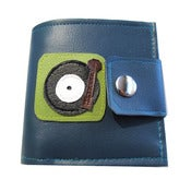 Image of Turntable ) Bifold Wallet With Snap (Plus Zipper) ((Teal))