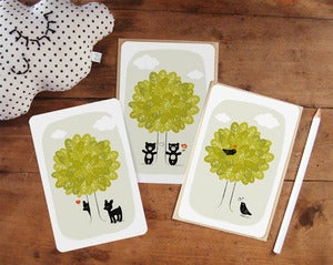 "Image of Lot de 3 cartes postales ""L'Arbre"""