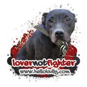 Image of Lover Not Fighter Dog - Red Graphics