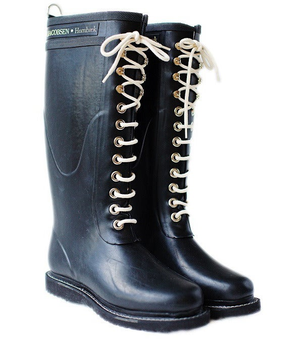 Image of Ilse Jacobsen Rubber Boots - Tall, Black