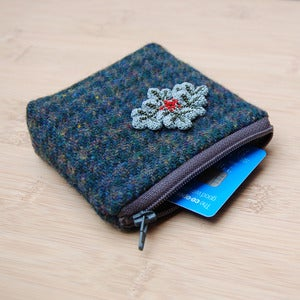 Image of Dogstooth checked coin purse