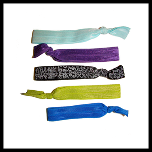 Image of Tropical Paradise Hair Ties Five Pack