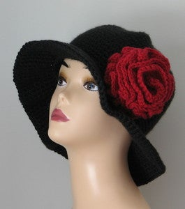 Image of Old Spanish Rose Wide Brim Hat Crochet Pattern PDF 067
