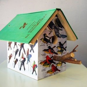 Image of Bird Field Guide Birdhouse by Wild Wings Literary Lodgings