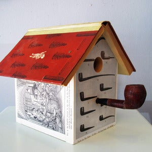 Image of The Gentle Art of Smoking Birdhouse by Wild Wings Literary Lodgings