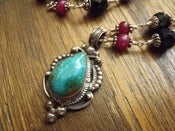 Image of Lady Fair Turquoise Necklace | Turquoise, Rubies, Black Onyx