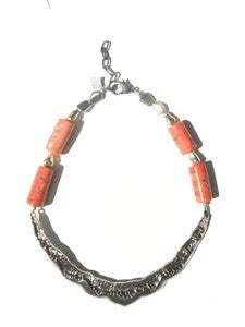 Image of Vintage Bar & Coral Necklace