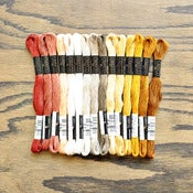 Image of Cosmo Embroidery Floss Palette : Mayan Gold