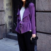 Image of Purple Chiffon Blazer Jacket