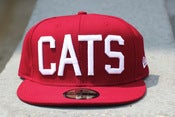 Image of MAROON CATS HAT new era fitted .