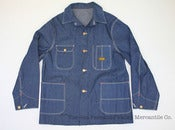 Image of Vintage 1950s Old Kentucky Sanforized Indigo Denim Chore Jacket 42 M/L, Deadstock w/ Tags 