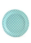 Image of Blue Polka Dot Paper Plates