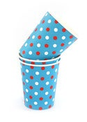 Image of Blue &amp; Red Dots Party Cups