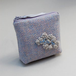 Image of Coin purse in vintage Harris tweed
