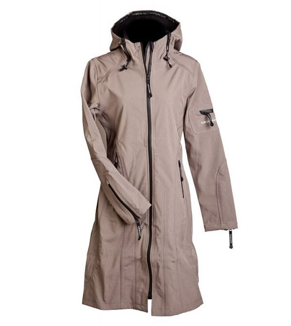 Image of Ilse Jacobsen Full Length Raincoat - Ash