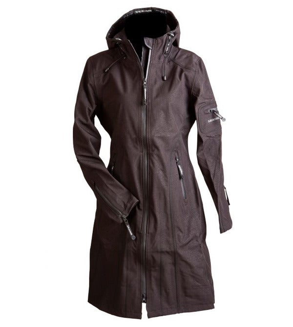 Image of Ilse Jacobsen Full Length Raincoat - Black