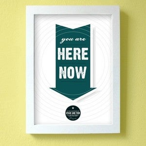 Image of you are here now - dark teal - large