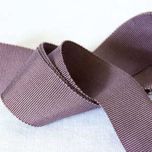 Image of Petersham Ribbon - Charcoal