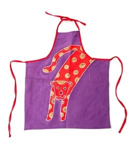 Image of Gold Spotted Leopard Kids Apron