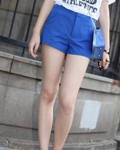 Image of Royal Blue Coloured Micro Shorts