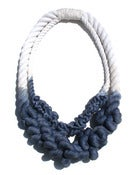 Image of Unraveled Cotton Rope Necklace-DBL