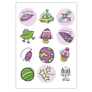 Image of To Infinity Space Girl Stickers