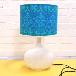 Image of Vintage Turquoise Lampshade - Made to Order