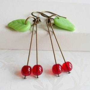 Image of Quirky Sweet Cherry Earrings