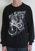 Image of ZLOG x ACTUAL PAIN - Hell On Wheels / Black Crewneck