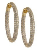 Image of Kara Ackerman <i>Talulah <i/> Medium Vermeil Micro Pave Set Hoops in Yellow
