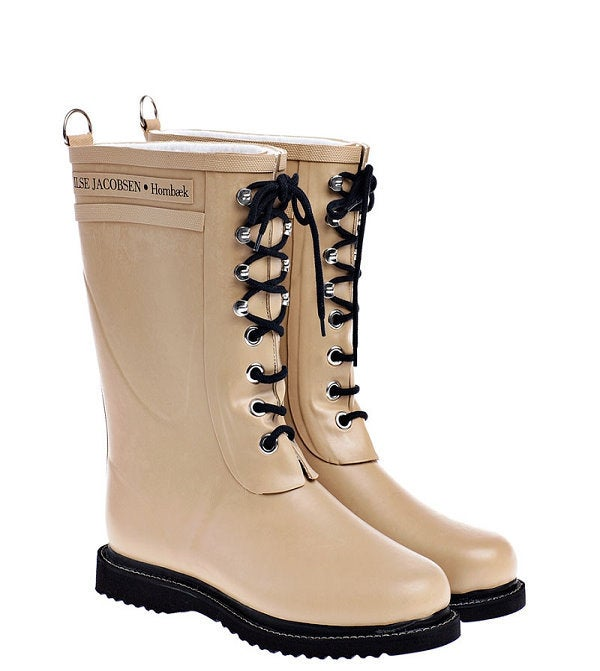 Image of Ilse Jacobsen Rubber Boots - Mid Calf, Camel