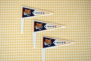 Image of LSU Pennant Cupcake Topper- 12