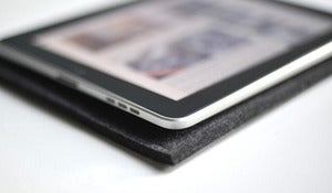 Image of Simple iPad/Kindle Sleeve - Graphite Wool Felt