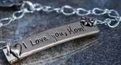 "Image of ""I Love you Mom"" Pewter Bracelet"