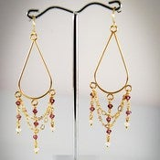 Image of Jasmin Chandelier Crystal Earrings
