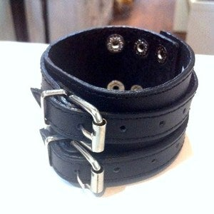 Image of Double Buckle Leather Cuff
